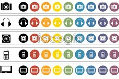Link toCategori camera and headset vector icons
