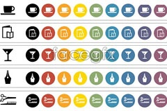 Link toCategori coffee cups and stemware vector icons