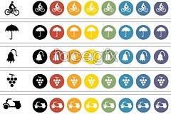 Link toicons vector grape and umbrellas and style concise Categori
