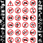 Link toCaution prohibition sign vector
