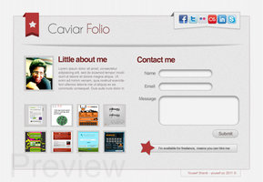Link toCaviar website template