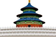 Link tovector buildings famous beijing heaven of temple format Cdr