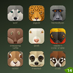 Link toCell phone animal icons vector