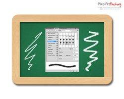 Link toChalkboard with chalk brush (psd)