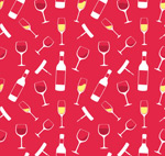 Link toChampagne and wine glass background vector