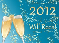 Link toChampagne new year vector free