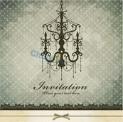 Link toChandelier with classic pattern vector