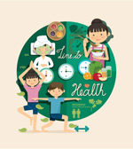 Character health information vector