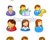 vector lady service customer key icon user a Characters