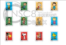 Link toCharlie cartoon characters stamp icon