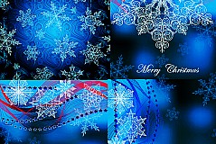 Link toCharm blue snowflake background vector