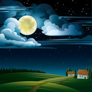 Link toCharming night vector background 01