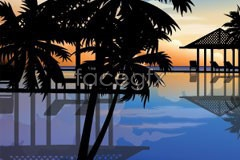 Link toCharming summer beach scenery vector