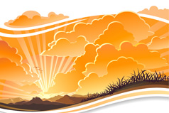 Link toCharming sunset vector