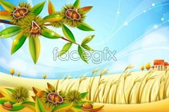 vector scenery countryside Chestnut