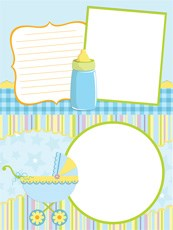 Link toChild baby photo frame vector graphics