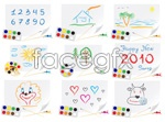Link toChild painting theme vector