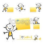 Link toChildren and note paper vector