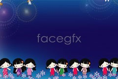 Link tovector background cartoon Children