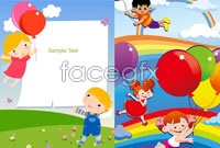 Link toChildren cartoon cartoon vector