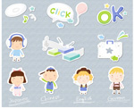 Link toChildren cartoon icons