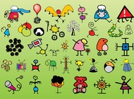 Link toChildren drawings vector free