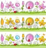 Link toChildren painting flowers vector