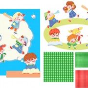 Link toChildren playing with pattern vector free