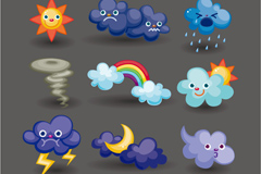 Link toChildren's cartoon the weather icon vector