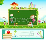 Link toChildren's drawing banner vector