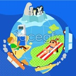 Link toChildren's ecological environment 10 vector