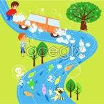 Link toChildren's ecological environment 12 vector