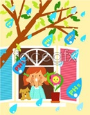 Link toChildren's ecological environment vector