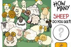 Link toChildren's math book sheep illustration vector