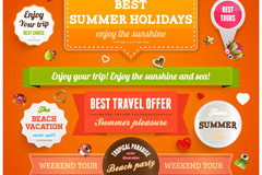 Link toChildren's summer holiday tag vector
