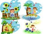 Link toChildren's summer holiday vector 2