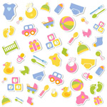 Link toChildren's toys, stickers vector