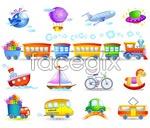 Link toChildren toys vector