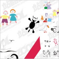 Link toChildren vector drawing material