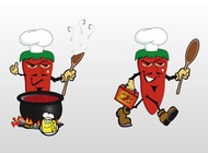 Link toChili soup vector free