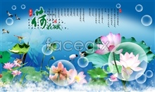 Link toChina assigns a psd design wind load scent of lotus picture