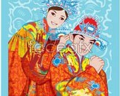 Link toChina folk wedding vector map 02