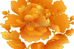 Link toChina's traditional golden peony pattern vector