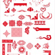 Link toChina style ornaments with frame vector free