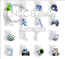 Link toChinese blue-and-white desktop icons