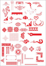 Link toChinese classical patterns vector