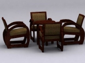 Link toChinese combination of two sets of tables and chairs 3d model