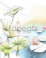 Link toChinese feng shui color lotus psd