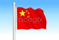 Link toChinese flag flutters vector