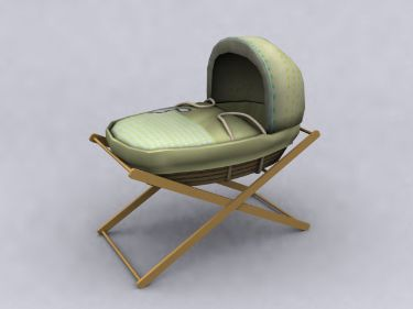Link toChinese green pattern baby crib 3d model